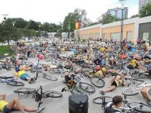 Одесские велосипедисты устроят лежачий протест в Аркадии