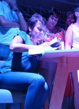 Одесса, литературный вечер, Забужко, зеленый театр